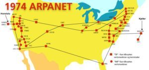 A map of the ARPANET in 1974