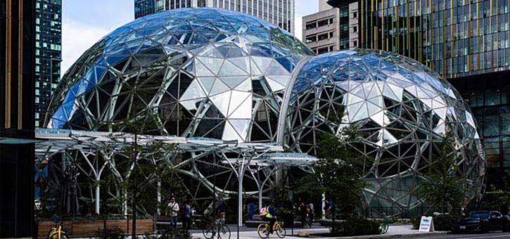 The Glass SPheres outside of Amazon's Seattle Offices, where Alexa was created.