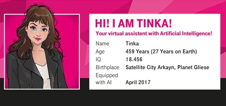 Tinka from t-mobile is a great example of using chatbots for customer service.