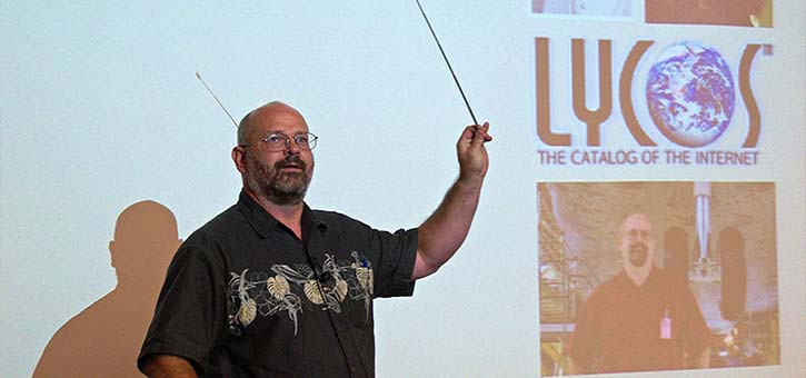 Michael Mauldin, creator of Chatterbot Julia, at a Lycos Event.
