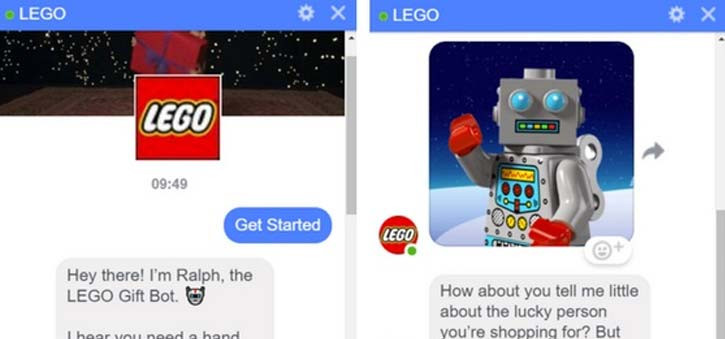 A sample chat with the Lego Ralph chatbot.